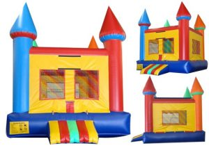 Multi Colored Castle Bounce House
