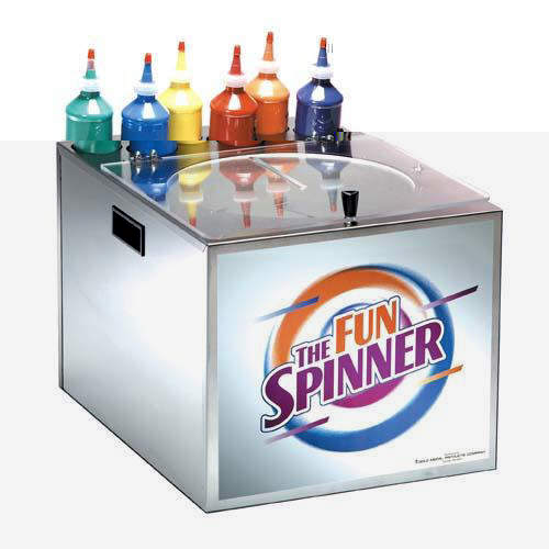 Spin art machine can be a fun addition to your bounce house party