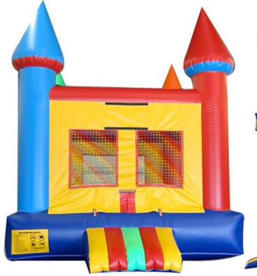 Large Multi Colored Castle Moonwalk $144.95