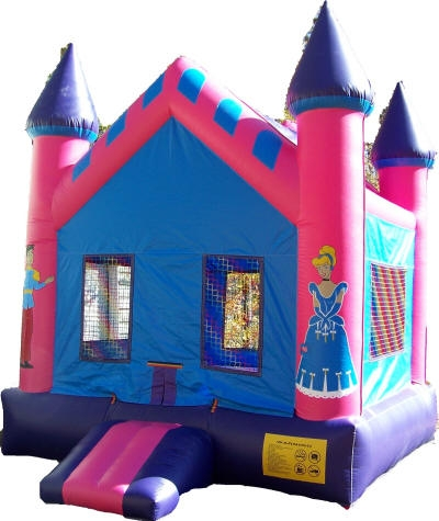 Pink Character Castle Moonwalk $134.95